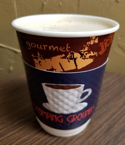 Stomping Grounds coffee cup