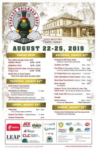 The official poster for Staples Railroad Days 2019