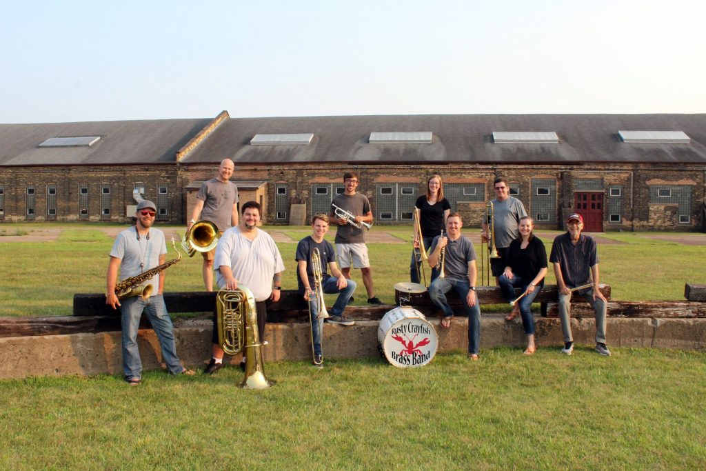 Promo picture of the Rusty Crawfish Brass Band