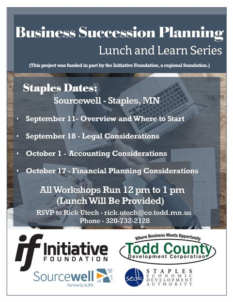TCDC Business Succession Planning seminar poster