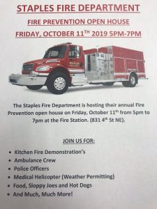 Fire Department Open House poster 2019